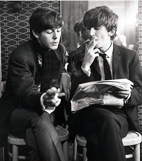 Paul & George smoking