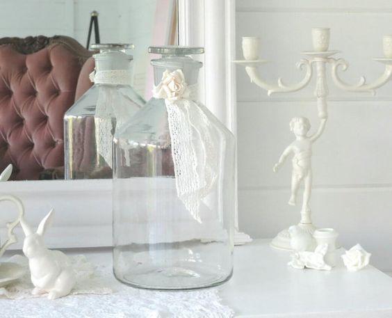 ~♡~  Große alte Apothekerflasche   ~♡~ von Weidenröschen auf DaWanda.com