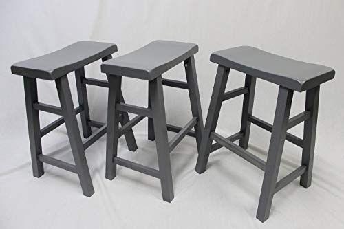 New Ehemco Set 3 Heavy Duty Saddle Seat Bar Stools Counter Stools