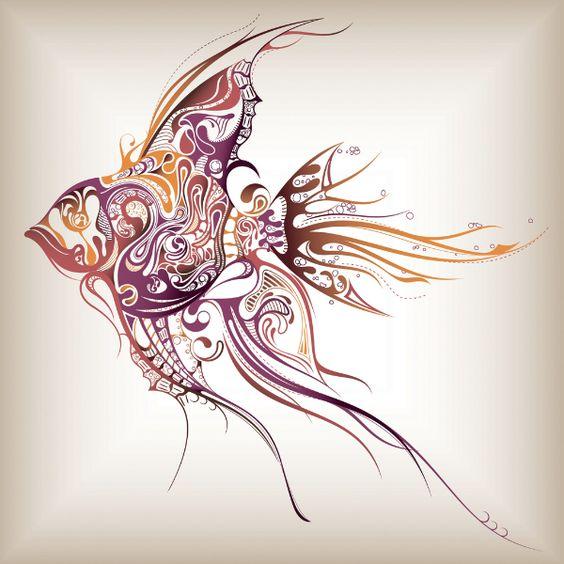Tribal Fish by creattica (via Creattica)