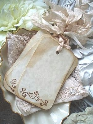 tea stained tags