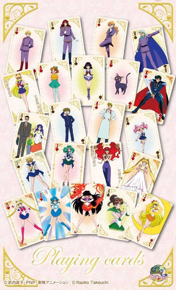 These new Japanese Sailor Moon playing cards! Buy here http://www.moonkitty.net/reviews-buy-sailor-moon-cards-games.php
