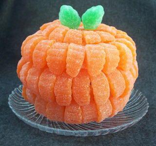 Gumdrop Pumpkin.....cute and easy to make edible centerpiece!