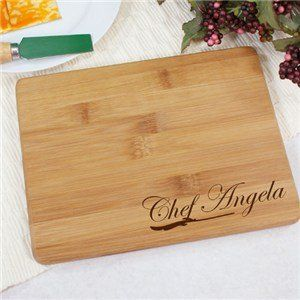 Amazon.com: Engraved Chef Bamboo Cheese Board: Everything Else