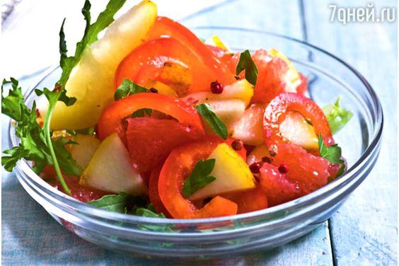 Фруктовый салат с грушами и сладким перцем: рецепт холодной закуски