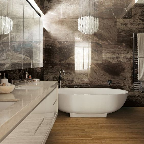 Pinterest the world s catalog of ideas for Bathroom feature tile designs