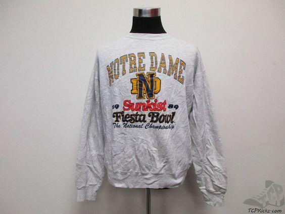Vtg 80s MVP Notre Dame Fightin Irish 1989 Sunkist FIESTA BOWL Sweatshirt sz XL #MVP #NotreDameFightingIrish