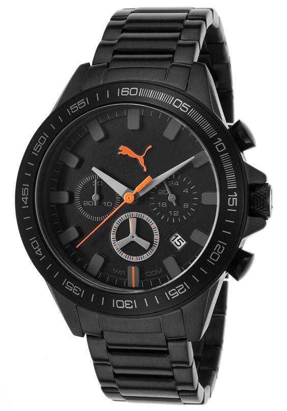 Puma Pu103621002 Watches Men 39 S Motor Sport Chrono Black Ip