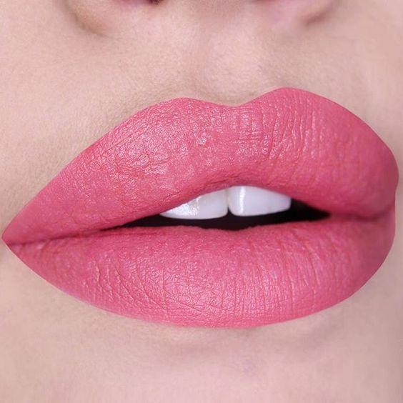 Pink lipstick lip makeup