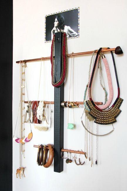 diy un porte bijoux en cuivre t te d 39 ange bijoux jewelry and jewelry storage. Black Bedroom Furniture Sets. Home Design Ideas