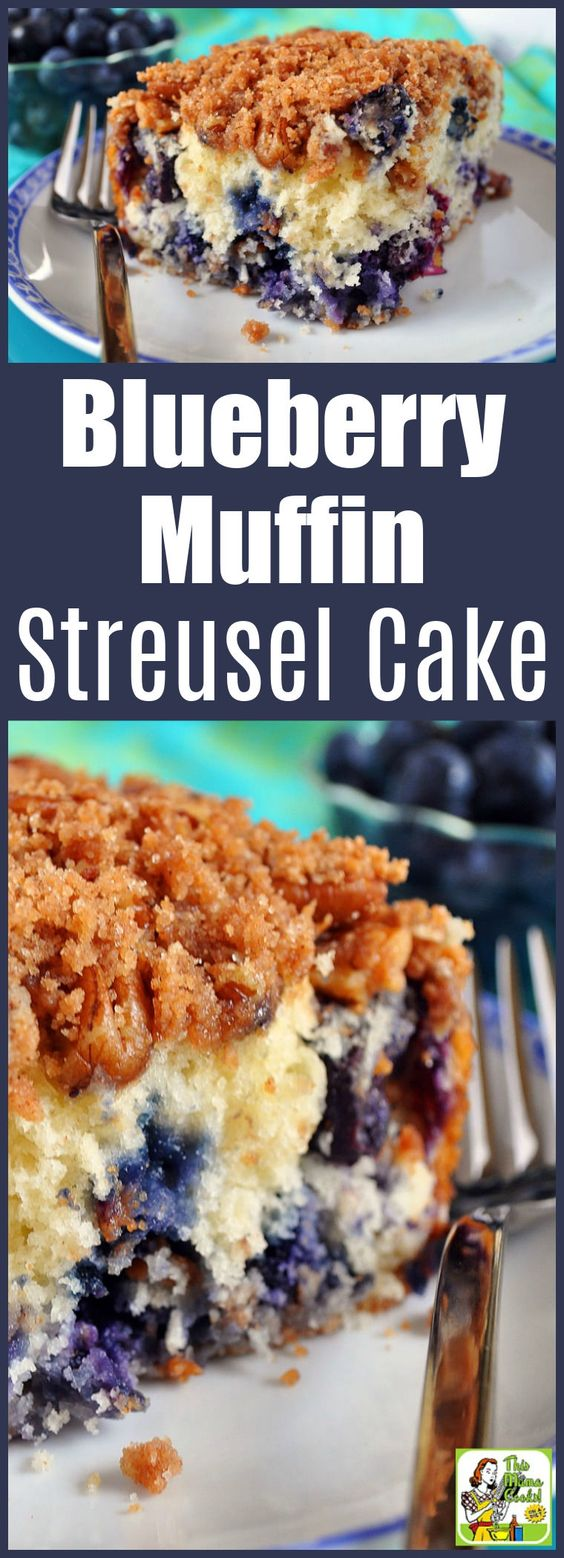 Blueberry Muffin Streusel Cake