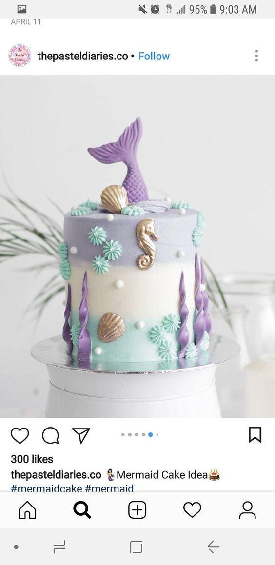 1 Set Edible Mermaid Tail Fondant Cake Topper Girl Birthday