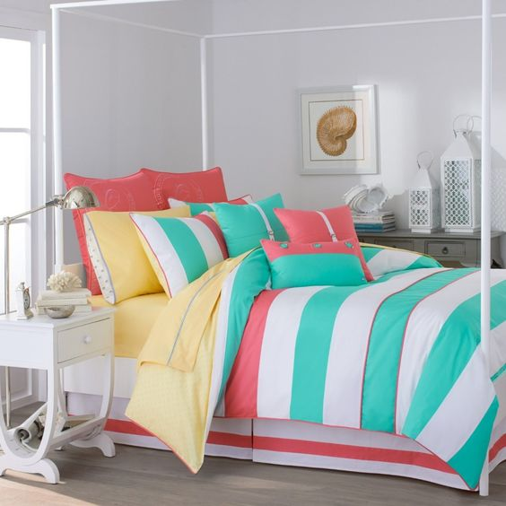 Teenage Girls Bedroom : Colorful Stylish Bedding For Teen