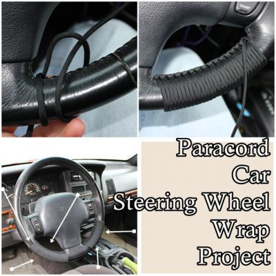 The Homestead Survival | Paracord Car Steering Wheel Wrap Project | http://thehomesteadsurvival.com   emergency preparedness & Homesteading