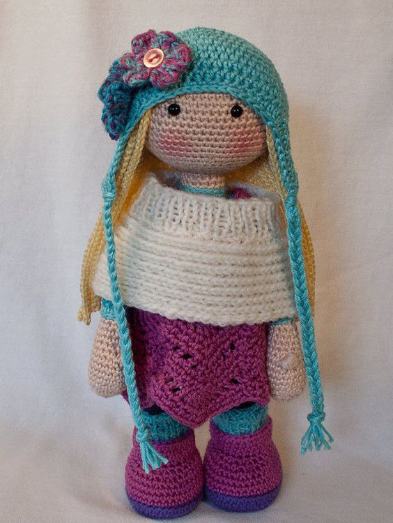 Crochet Amigurumi Doll Body : Crochet pattern for doll SUE (Deutsch, English, Francais ...