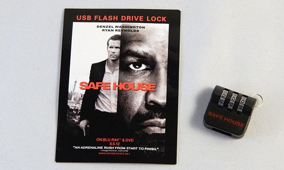 USB flash drive lock for the movie Safe House