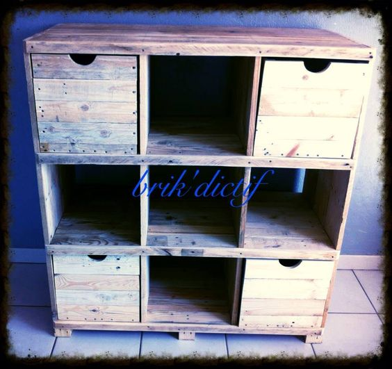 expedit alternative with pallets meuble casiers en