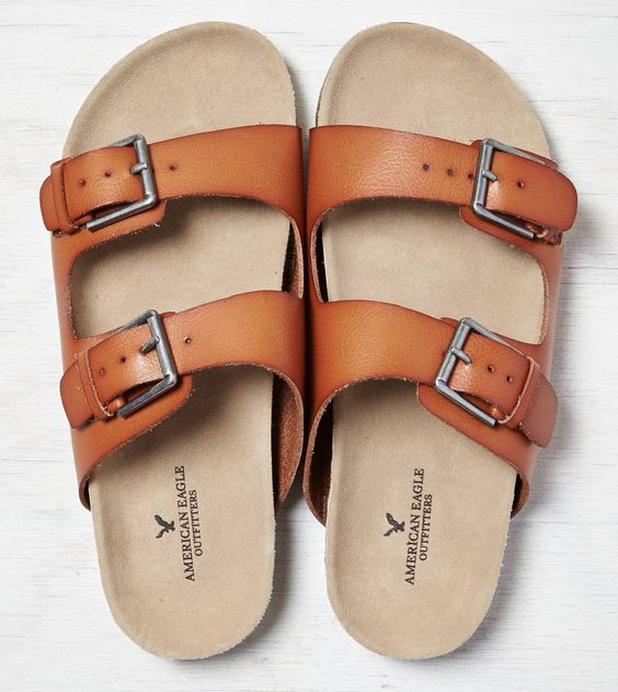 Tan AEO Double Strap Sandal