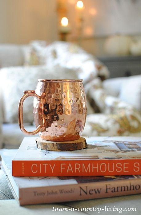 Moscow Mule Mug and Favorite Farmhouse Decorating Books