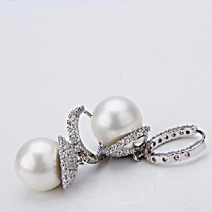 Silver Pearl Earrings