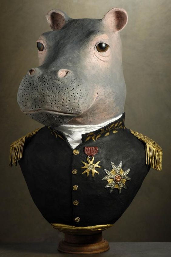 hippopotame médaillé