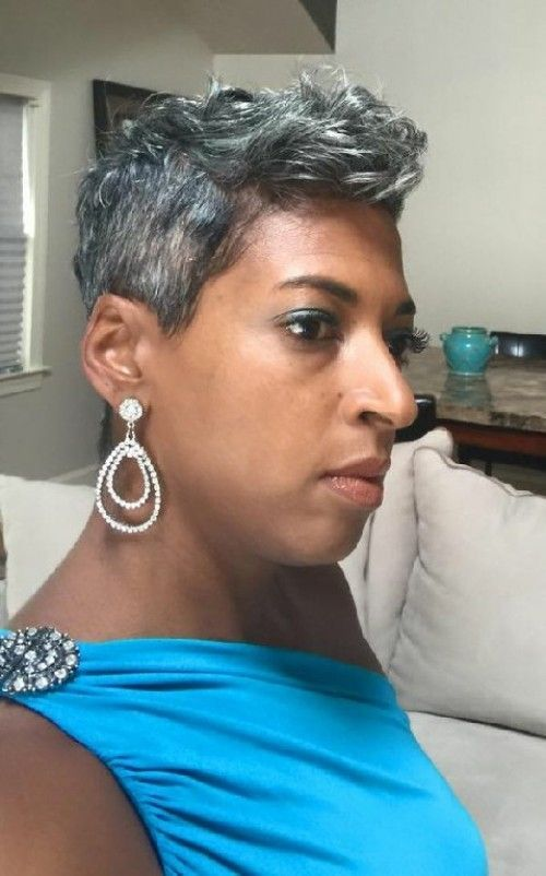 30+ Middle Aged Black Woman Natural Hairstyles For Short Gray Hair Background