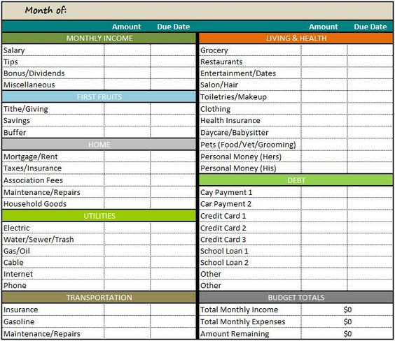 Personal Monthly Budget Template Free several free retirement - monthly financial report excel template