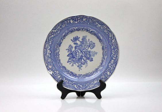 Spode Blue Room Collection Plate ♥ See more at www.PeriodElegance.etsy.com  #vintagechina #spodechina #spodeplate