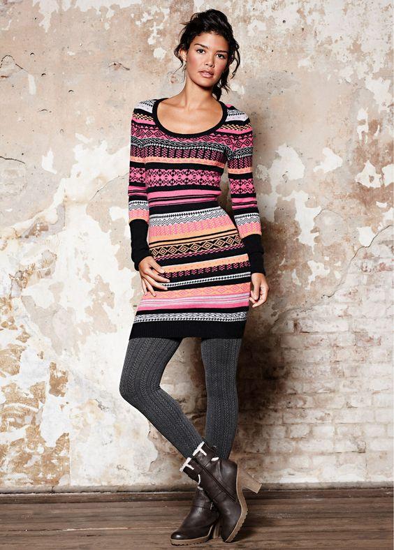 patterned #knitted #dress #bonprix