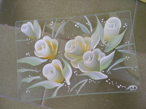 Glass painting crafts pinterest glasses diy and for Using fabric paint on glass