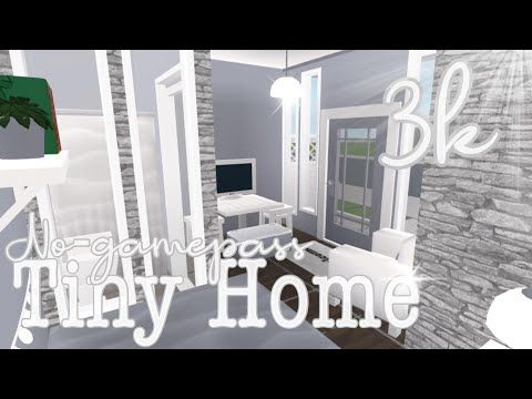 3k No Gamepass Tiny Home Bloxburg Youtube Tiny House Layout
