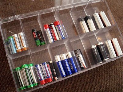 Love this idea for organizing batteries. #organization