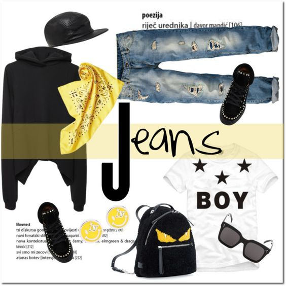 Boy jeans..... by pam0713 on Polyvore featuring moda, Vetements, Fendi, Vivienne Westwood, Cast of Vices, CÉLINE, BOY London, Laurence Dacade, women's clothing and women's fashion