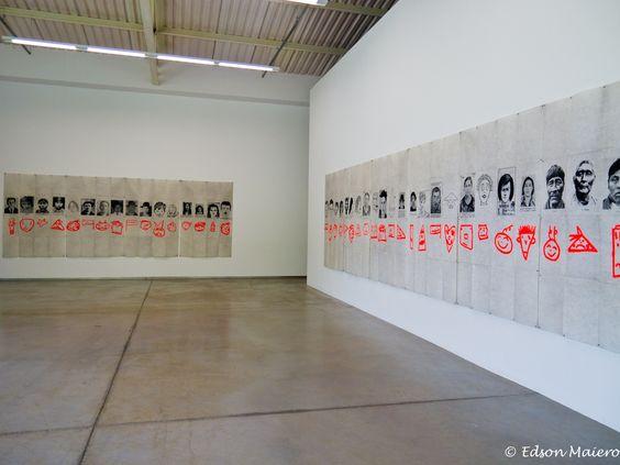 Inhotim: Eugenio Dittborn: La VI historia del rostro (El Rojo Cmino Negro)