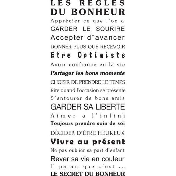 stickers, mural, texte, humour, maison, bonheur, porte, deco, original, géant, pas cher