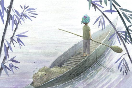 Le Pecheur Aux Mille Couleurs Oreli Gouel Illustration Dessin Realiste Dessin