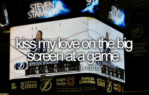 -kiss my love on the big screen at a St. Louis Cardinals game.