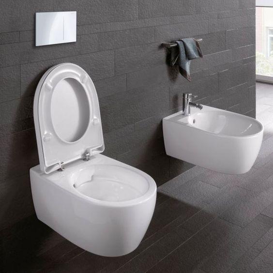 Geberit Icon Rimfree Wall Hung Toilet Available At Uk Bathrooms Bathroom Geberit Toilet Bathroomideas Neues Badezimmer Toiletten Spulrandloses Wc