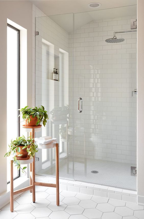 See The Inspiration For The Flip Home In Episode 6 Find Images Of Each Room In This Mid Ce Master Bathroom Design Bathroom Remodel Master Bathroom Tile Designs