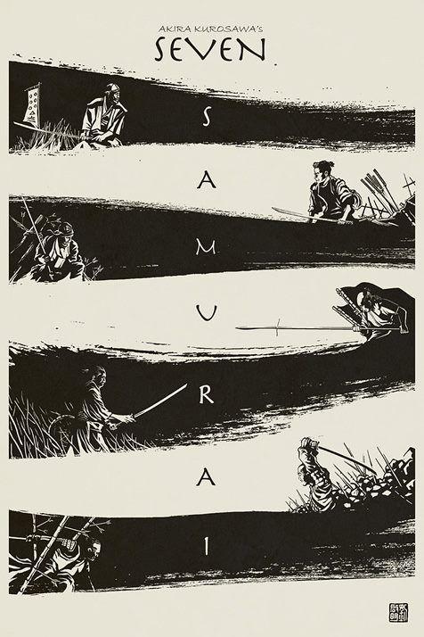 Seven Samurai - Akira Kurosawa                                                                                                                                                      Más