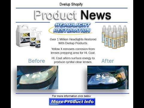 New How To Restore Yellow Hazy Headlights By Dvelup Auto Products With Images Headlight Restoration Restoration Headlights