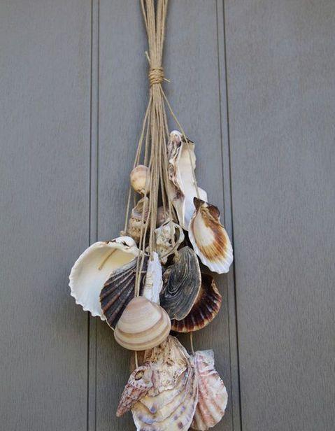 "Driftwood and Oyster Shells Garland 24/"" Decorative Seashells Hanging Strand"