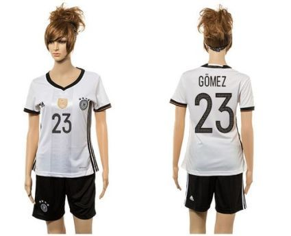 Women Germany #23 Gomez White Home Soccer Country Jersey