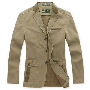 Hoge Kwaliteit Heren Militaire Stijl Blazer, Grote maat Brand blazer, L-5XL, Gratis verzending