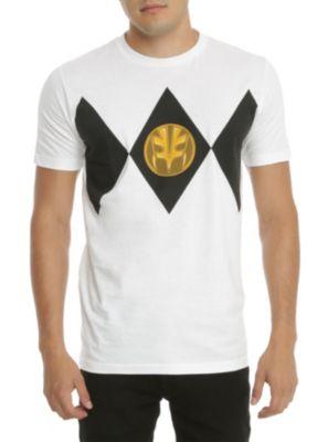 Mighty Morphin Power Rangers White Ranger T-Shirt 2XL
