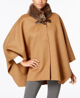 Jones New York's poncho-style coat gives your seasonal style a unique touch…
