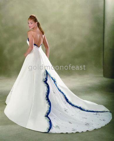 Blue o white dress google