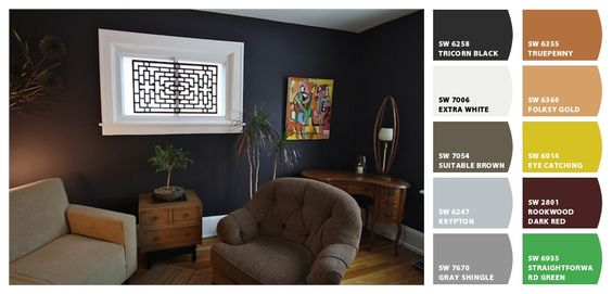 black accent walls black accents and accent walls on pinterest. Black Bedroom Furniture Sets. Home Design Ideas