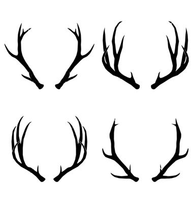 deer antlers drawing easy - photo #6