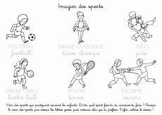 Coloriage à imprimer : Imagier des sports